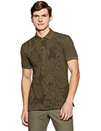 Gas Men's Slim Fit Printed Cotton Polo