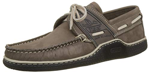 TBS Globek, Chaussures Bateau Hommes, Marron (Tabac + Marine D8I55), 43 EU