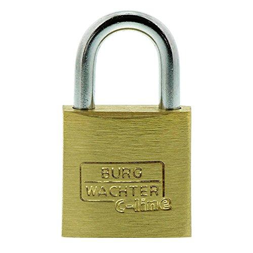 BURG-WÄCHTER Vorhängeschloss, 3er-Set, 3,5 mm Bügelstärke, 4 Schlüssel, Trio 222 20 SB