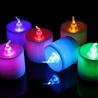 Caratteristiche: · Multi colori cambia la luce del LED, candela forma, bella e divertente. · bello, tranquillo illuminazione romantica. Perfetto per la decorazione o regalo. · senza fiamma, sicurezza e facile da usare, si mettono romantica c...