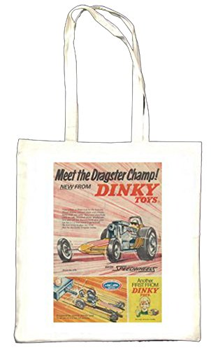 DINKY Toys Dragster Champ 1969 Totebag