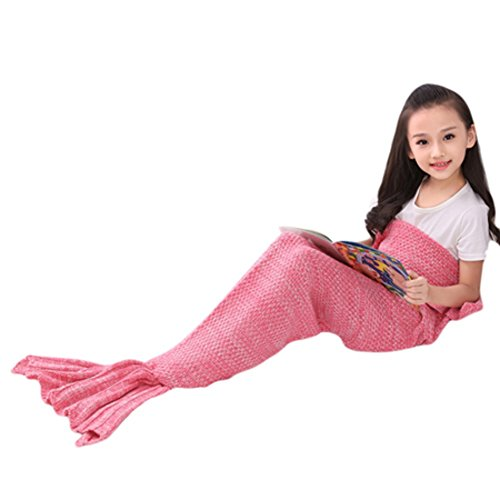 Preisvergleich Produktbild Balai kuschel decke im Meerjungfrauen Stil,Sofa Schlafdecke, weiche Strick Meerjungfrauen Schwanz Schlafsack
