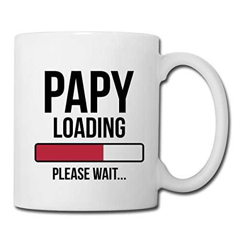 Papy Loading Please Wait Mug blanc, blanc