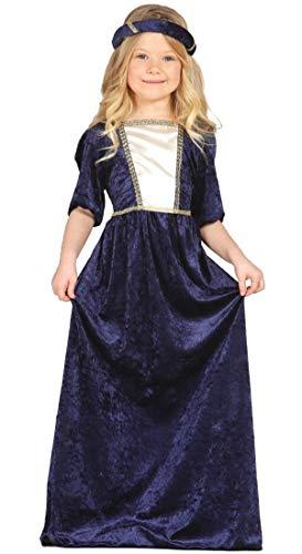 Fancy Me Mädchen-lila Lang Renaissance Mittelalterliche Maid Juliet Kostüm Kleid Outfit 3-9 Jahre - Lila, Lila, 5-6 Years (Renaissance Maid Kostüm)