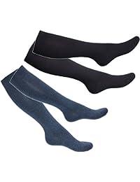 Tobeni 2 paires de chaussettes de bas de contention du genou pour les hommes et les femmes - Grande qualité en 4 couleurs