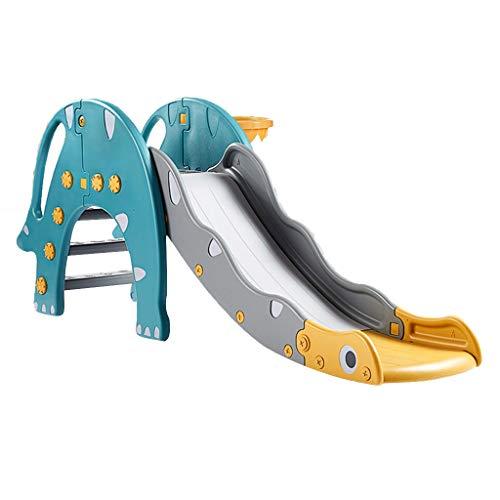 Unbekannt Indoor-Rutsche Für Kinder Dicke Kleine Rutsche Multifunktionsrutsche Für Zuhause Kombinationsspielzeug Umweltfreundliches Material Rutschfestes Design (Color : Blue, Size : 173 * 74 * 32cm)