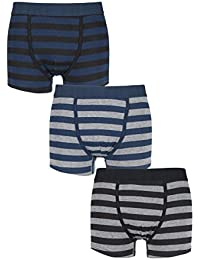 Firetrap Mens 3 Pack Dark Striped Boxer Shorts