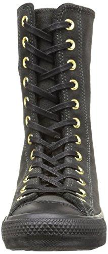 Converse Star X-Hi Zip Suede Sneaker,Donna Iron/Black