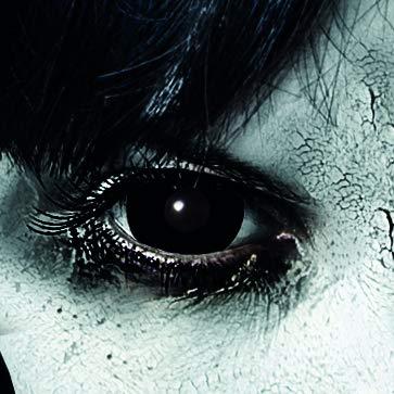 Schwarze farbige Kontaktlinsen Mini Sclera ohne Sehstärke 1 Paar Zombie Vampir Cosplay Fastnacht Zombie Schminke von King of Halloween