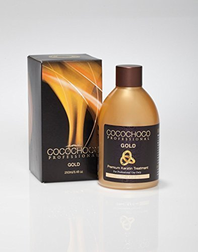 Cocochoco GOLD 250ml Brazilian Blow Dry Hair Straightening Keratin Treatment 8.4 fl.oz Plus Free Shampoo