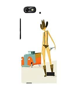 EPICCASE Cow Boy Cases Mobile Back Case Cover For Xiaomi Redmi Mi4i (Designer Case)