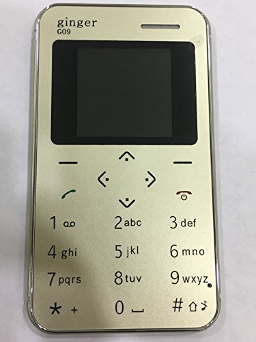 Ginger g09 1.44 inch QQVGA Display Slim Card Size GSM Single SIM Keypad Mobile (Gold)
