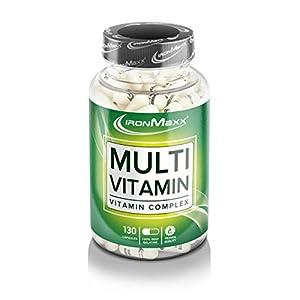 IronMaxx Multivitamin Kapseln – Hochdosierte Multivitamin Kapsel – Deckt 100% des Tagesbedarfs – 1 x 130 Kapseln