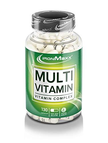 IronMaxx Multivitamin Kapseln - Hochdosierte Multivitamin Kapsel - Deckt 100% des Tagesbedarfs - 1 x 130 Kapseln -