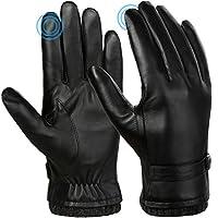 VBIGER heren handschoenen leren winterhandschoenen winter warme winterhandschoenen anti-slip touchscreen-handschoenen winddicht koudebestendige handschoenen casual outdoor sporthandschoenen (M)