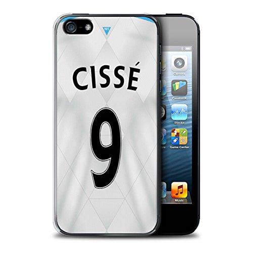 Offiziell Newcastle United FC Hülle / Case für Apple iPhone 5/5S / Colback Muster / NUFC Trikot Away 15/16 Kollektion Cissé