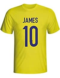 UKSoccershop James Rodriguez Colombia Hero T-Shirt (Yellow) - Kids