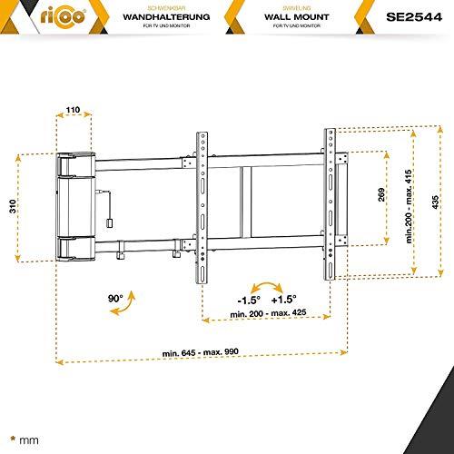 Ricoo Motorisierte Tv Wandhalterung Schwenkbar Se2544 Elektrisch