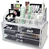 Best Desk Organizers - Acrylic Makeup Organizer Cosmetic Jewerly Display Box 2 Review