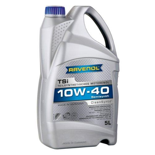 RAVENOL TSi SAE 10W-40 / 10W40 Teilsynthetisches Motoröl, ACEA A3/B4 (5 Liter)