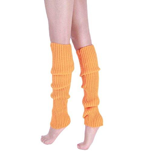 Vovotrade ❤❤ Neue Art- und Weisefrauen-warme Winter-klassische Bein-Wärmer-strickende Socken (Orange) (Damen Stiefel Neue Winter)
