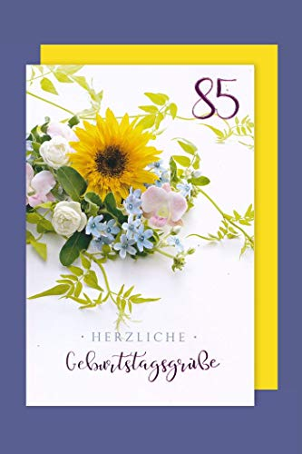 AvanCarte GmbH 85 Geburtstag Karte Grußkarte Präge Foliendruck Grüße 16x11cm