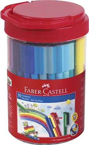 Faber-Castell 155550 Filzstift Connector in Box, 50-teilig