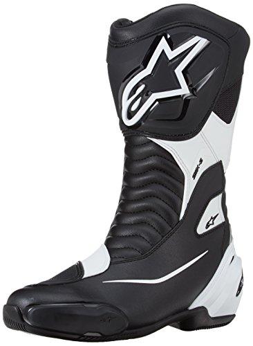 Alpinestars-Botas de Moto SMX S Negro Blanco-44