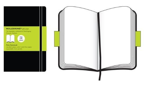 Moleskine Taccuino Notebook, Copertina Morbida, Large, Pagine Bianche, Nero