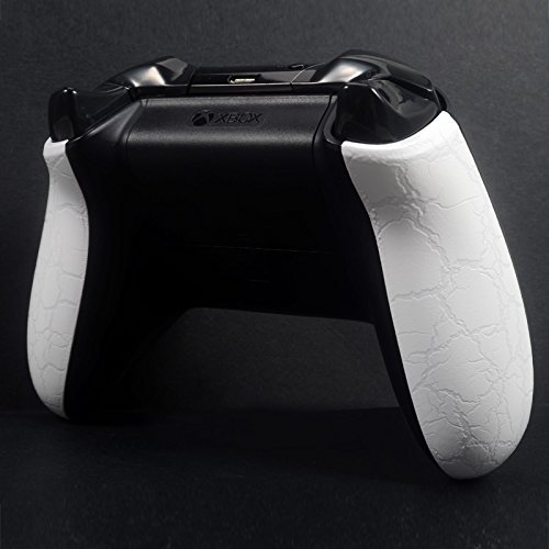 E Xtreme Rate Crackle White Right Left Grip Back Panel Side Rails Mod For Xbox One Controller 41ii0jI8FSL