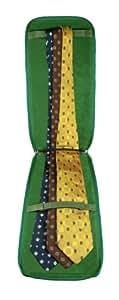 Lucrin Etui Porte Cravates Cuir Vachette Lisse VertClair BG1078_VCLS_VTC