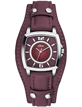 s.Oliver Damen-Armbanduhr XS Analog Quarz Leder SO-2786-LQ
