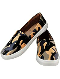 Zapatoz Presents Women's/Ladies/Female/Girls Trendy Fashionable Lightweight Comfortable Partywear, Casual Camouflage Shoes for Women Stylish Sneakers/Loafer/Slip-On Shoes_(S-7-Blue)
