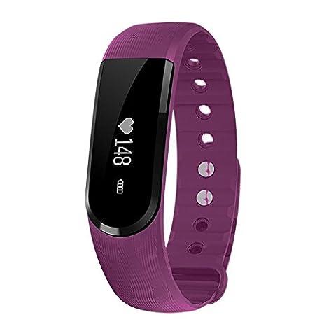 Kivors® Smart Uhr ID101 Handy Uhr Mehr Intelligent Uhr Fitnessarmband Aktivitätstracker Schlaf-Tracker Synchronisierung mit Android 4.3 oder höher und IOS8 oder