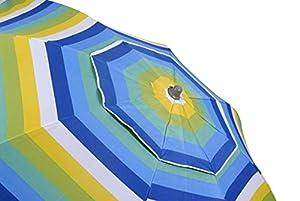 Safari Parasol policot.Rayas con prot.UV Vent.220 cm 43315