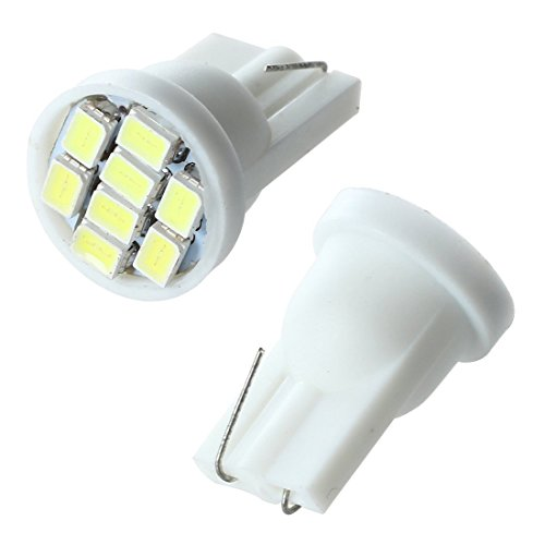 TOOGOO(R) 2 x T10 W5W 8 SMD LED Blanc - Ampoule lumineuse Ampoule interieure lumiere ampoule 12V