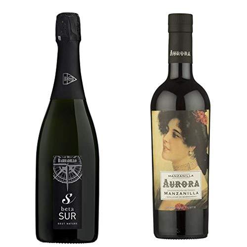 Manzanilla Aurora Y Beta Sur - D. O Manzanilla De Sanlúcar De Barrameda Y Vino De La Tierra De Cádiz - 2 Botellas De 750 Ml