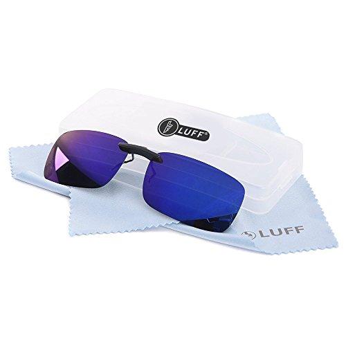Clip polarizado unisex en gafas de sol para anteojos recetados-Buenas gafas de sol estilo clip para gafas de miopía al aire libre / conducción / pesca