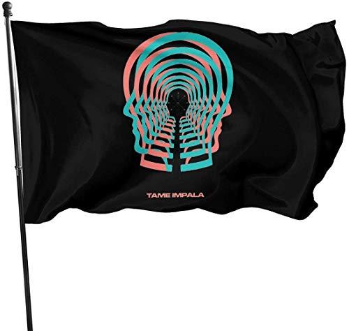 RJin92 Dekorative Flagge Tame Impala Fashion Advanced Durable and Colorfast Outdoors Garden Flag