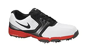 2013 Nike Lunar Saddle Mens Golf Shoes ** New Out** White/Challenge Red 9 UK