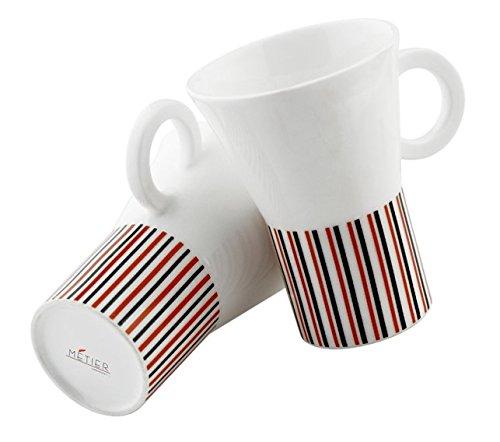 Metier Designer Bone China Mug Set of 2 Pcs  available at amazon for Rs.349