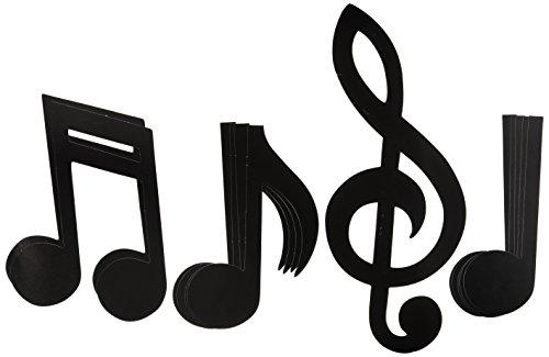 Preisvergleich Produktbild Beistle - 55295 - Printed Musical Note Silhouettes- Pack of 12