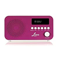 Lava DAB Radio with DAB & DAB+ Digital Radio and FM with Auto-Scan, LCD Screen and Mains/Battery Power �?? Purple