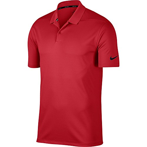 Nike Dry Victory Solid, Polo Dry Victory Solid Homme, Rouge (University Red/Black), FR : M (Taille...