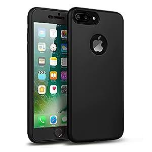 Wondrous ™ Rubberized Matte Finish Front & Back Case for Apple iPhone 7 Plus