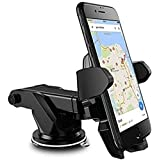 SYSTEM BREAKER Mount/Mobile Holder Quick Touch One Premium 360 Adjustable 3-in-1 Car Mount Holder For All Phones/Long Neck One Touch Car Mount 360° Rotation With Ultimate Reusable Suction Cup For Car Dashboard/Car Windshield/Desktop (BLACK COLOR)