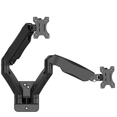 Wali Dual LCD Monitor Tischhalterung Ständer (wl-m002) Dual Arm-Gas Spring Wall Mount schwarz Articulating Wall Arm Mount
