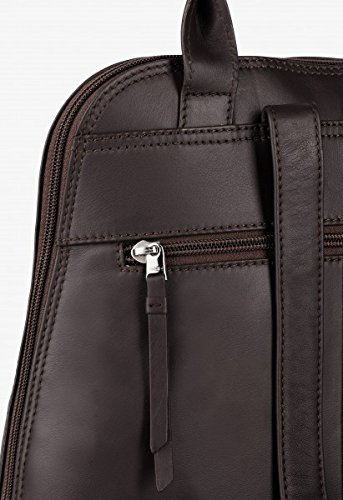 BREE, Borsetta da polso donna nero black smooth 28 cm x 33 cm x 16 cm (B x H x T) marrone scuro