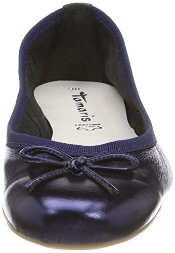 Tamaris 22165, Ballerines Bleues Pour Femmes (navy Metallic)