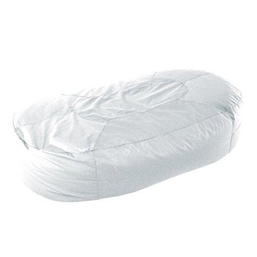 Tolles Sitzsäcke klein–Liege, Baumwolle, Stoff, Weiß